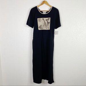 Vintage Nina Piccalino Art To Wear Maxi Dress